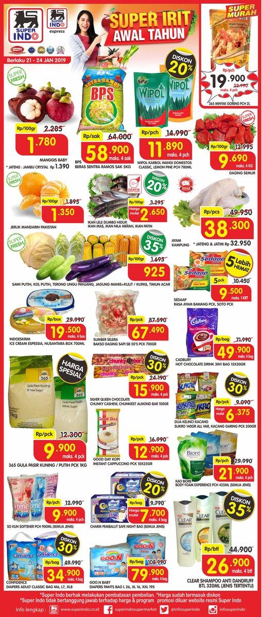 #Superindo - Promo Katalog Super Irit Awal Tahun Periode 21 - 24 Januari 2019