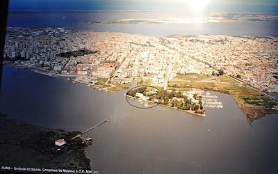 Imagem aérea rio grande, barra, praia do cassino