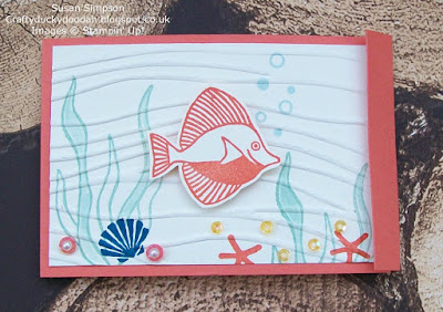 Stampin' Up! UK Independent  Demonstrator Susan Simpson, Craftyduckydoodah!, Seaside Shore, Team Creative Challenge March 2017, Supplies available 24/7 from my online store,