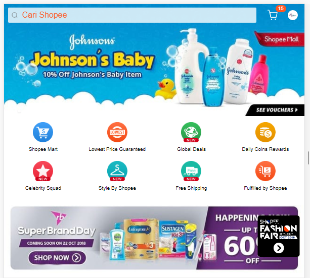 10% off johnson's baby item shopee