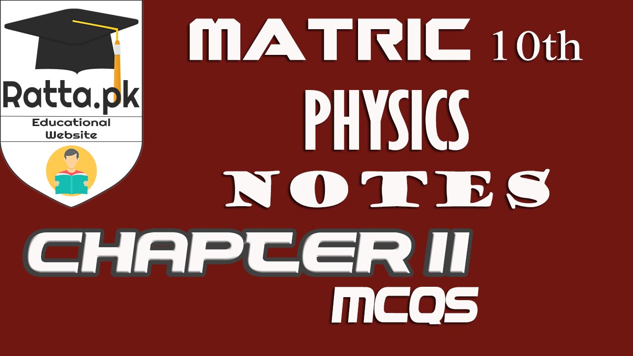 10th Class Physics Chapter 11 Sound MCQs |Matric 10th Physics Notes