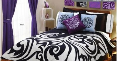 black and white and purple bedroom.  BLACK AND WHITE PURPLE BEDROOM SET DECORATING IDEAS