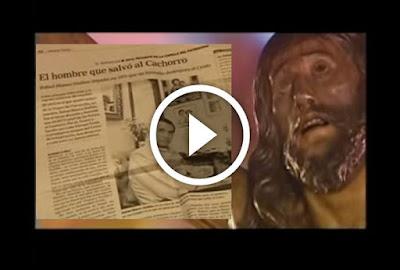 El hombre que salvo al cachorro de Triana de quemarse en el incendio de la Capilla del Patrocinio o Basilica del Cachorro ocurrido en 1973