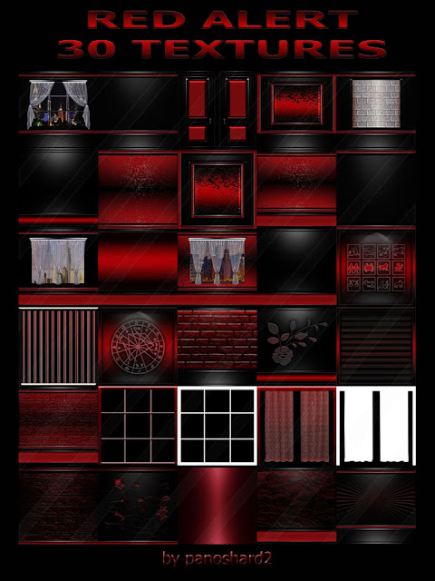 TEXTURES IMVU FOR SALE: RED ALERT 30 TEXTURES FOR IMVU ROOMS