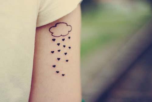 yağmur kalp dövmesi rain heart tattoo