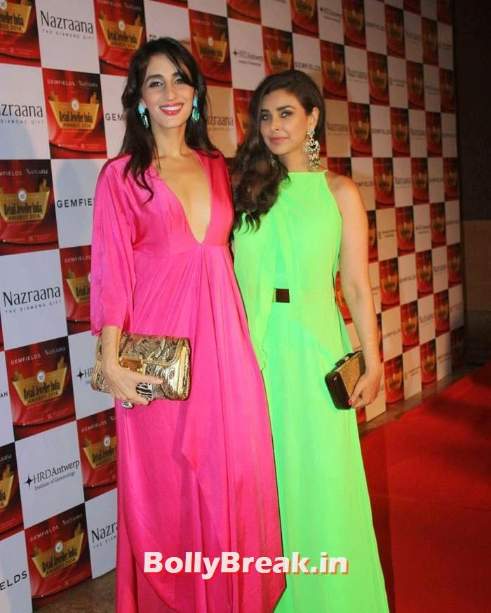 Farah Khan Ali, Lisa Ray, Pics of Celebs in Sexy Dresses & Gowns at Gemfields & Nazraana Retail Jeweller India Awards 2014