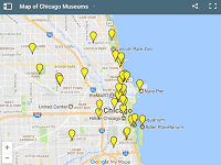 Map of Chicago Museums