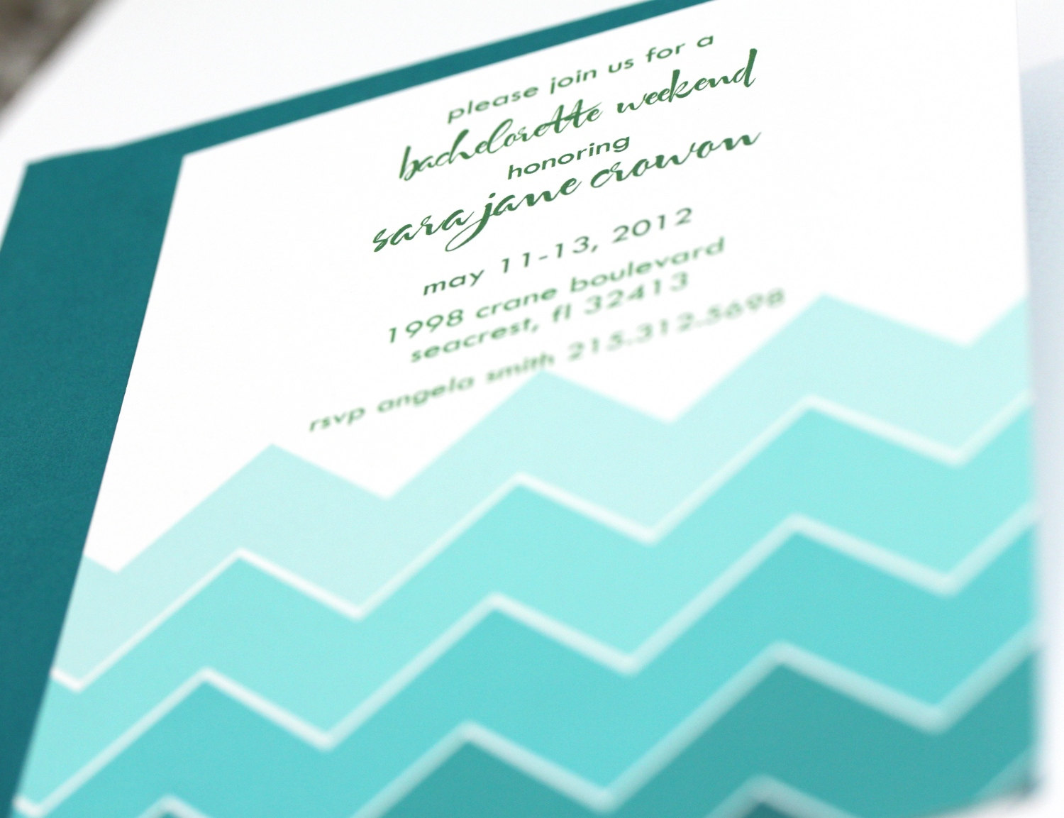 Ombre Wedding Invitation: Merry Me Events: Merry Monday : Ombre Chic…