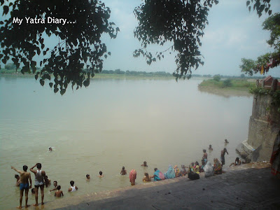 River Yamuna flowing at the Brahmand Ghat, Mayhura - Uttar Pradesh