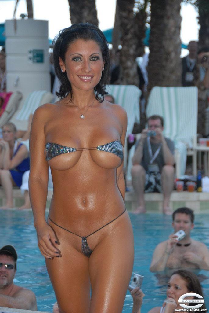 Tiniest bikini contest theme simply