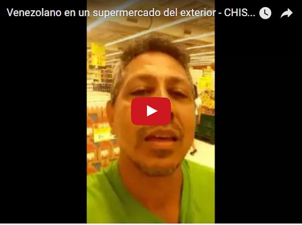 Venezolano en un supermercado del exterior mentando la madre de Maduro