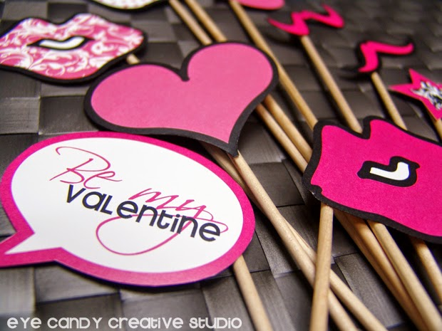 be mine valentine, photo props, classroom idea