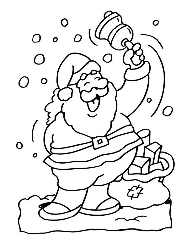 Free Santa Coloring Pages and Printables for Kids | 795x596