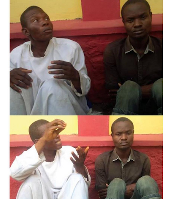 Image result for Cherubim and Sheraphin prophet, Darasimi Rotimi and his accomplice Ibikunle Sunday, who allegedly killed one Sara Olowokere and dissected her body for rituals.