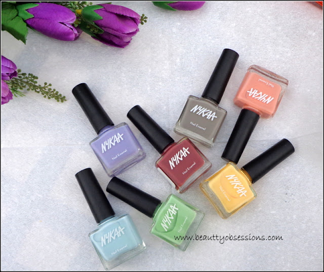Keep The Pastel Hues With Nykaa Nail Paints.. ( Review & Swatches of 7 beautiful shades)