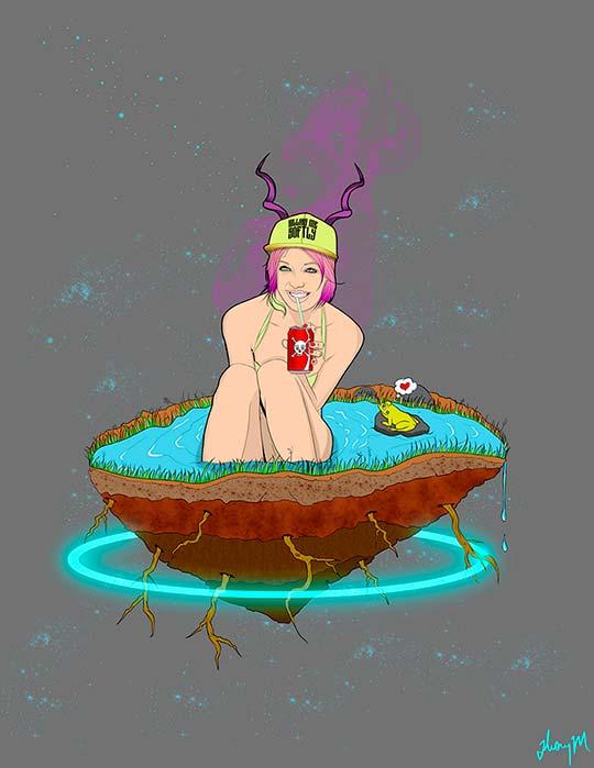 Ilustración de Jhony Marin aka FLUI2GRAFICOS