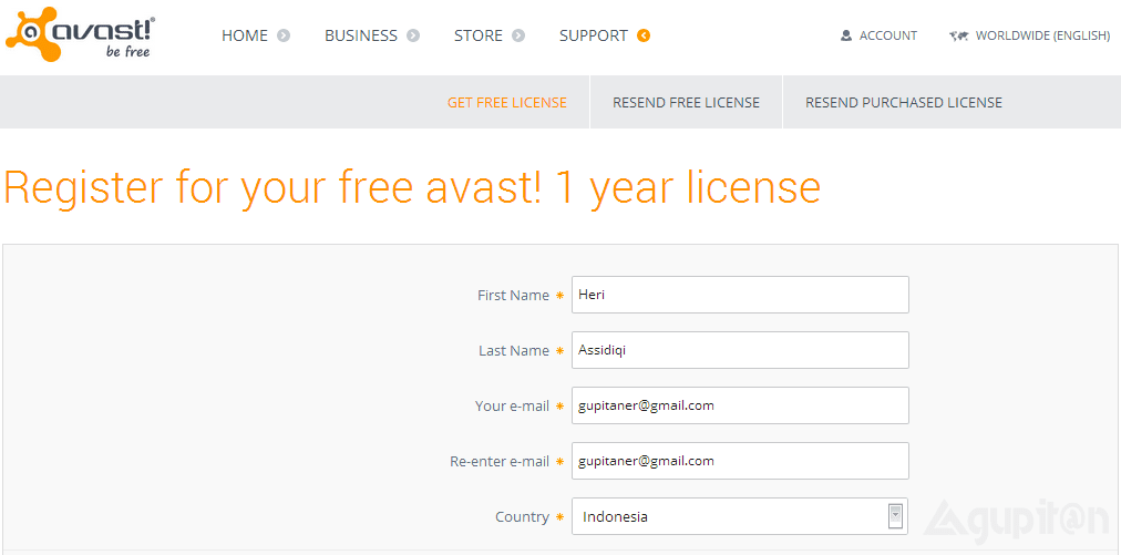 Download License Key Avast! Free Antivirus 2014 Gratis 1 Tahun