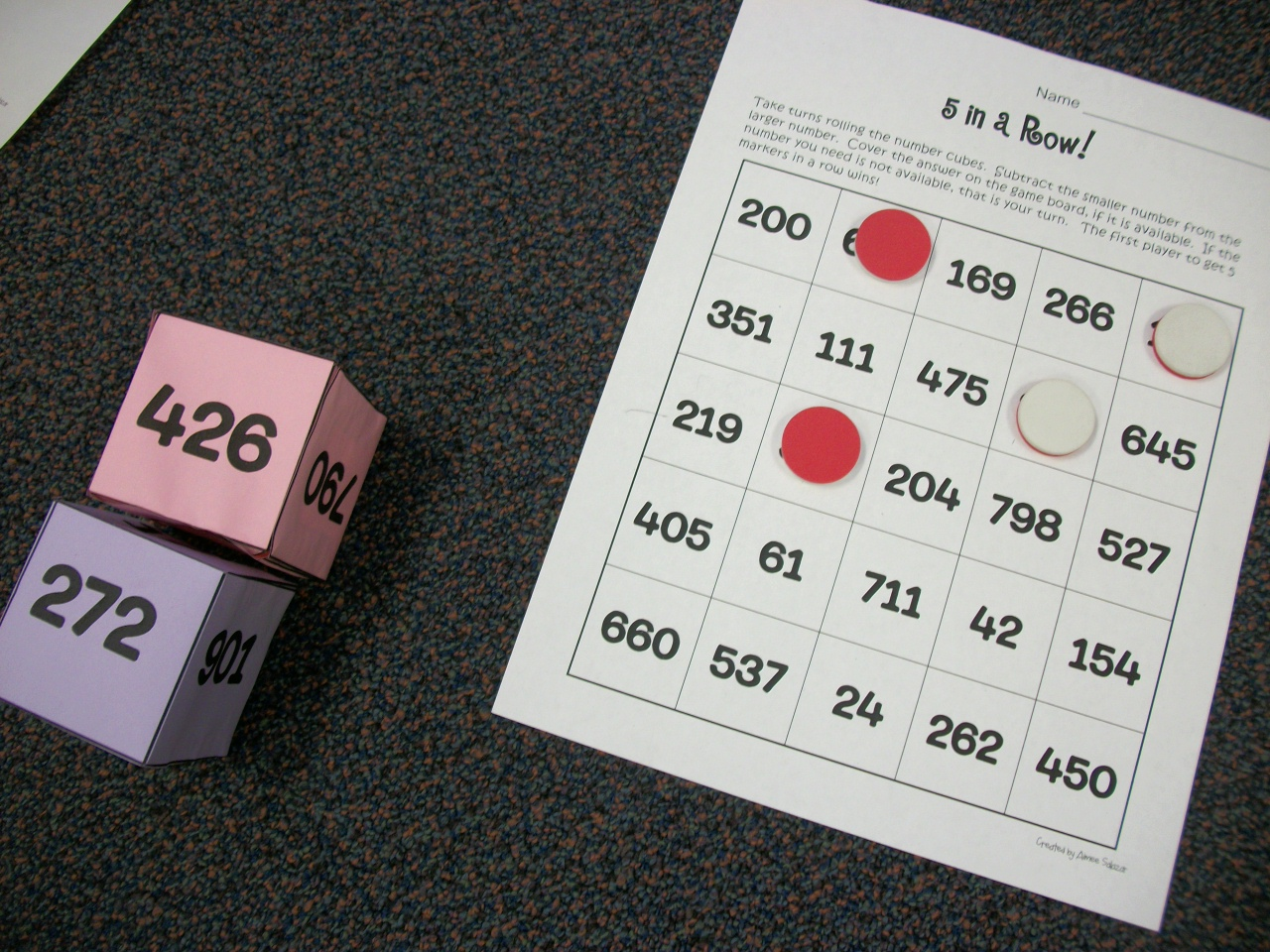 Workbooks subtracting three digit numbers worksheets : Three Digit Addition and Subtraction is Fun! | Primarily Speaking