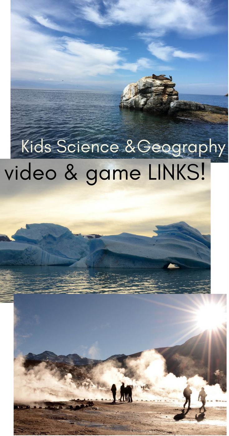 Kids Science & Geography Video & Game Links