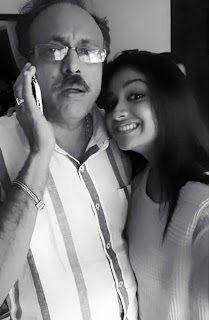 Keerthy Suresh with Cute and Awesome Smile with her Dad