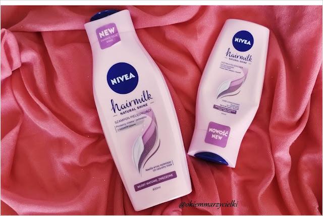 Szampon i odżywka pielęgnująca do włosów matowych i zmęczonych, Nivea Hairmilk Natural Shine- recenzja #73