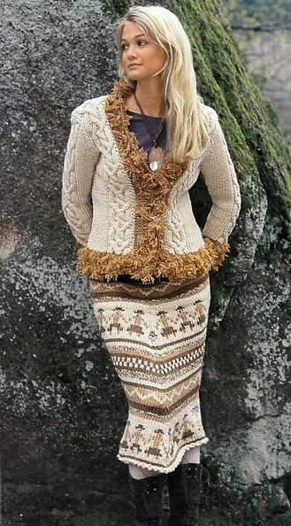 Patrón #1394: Falda a Crochet