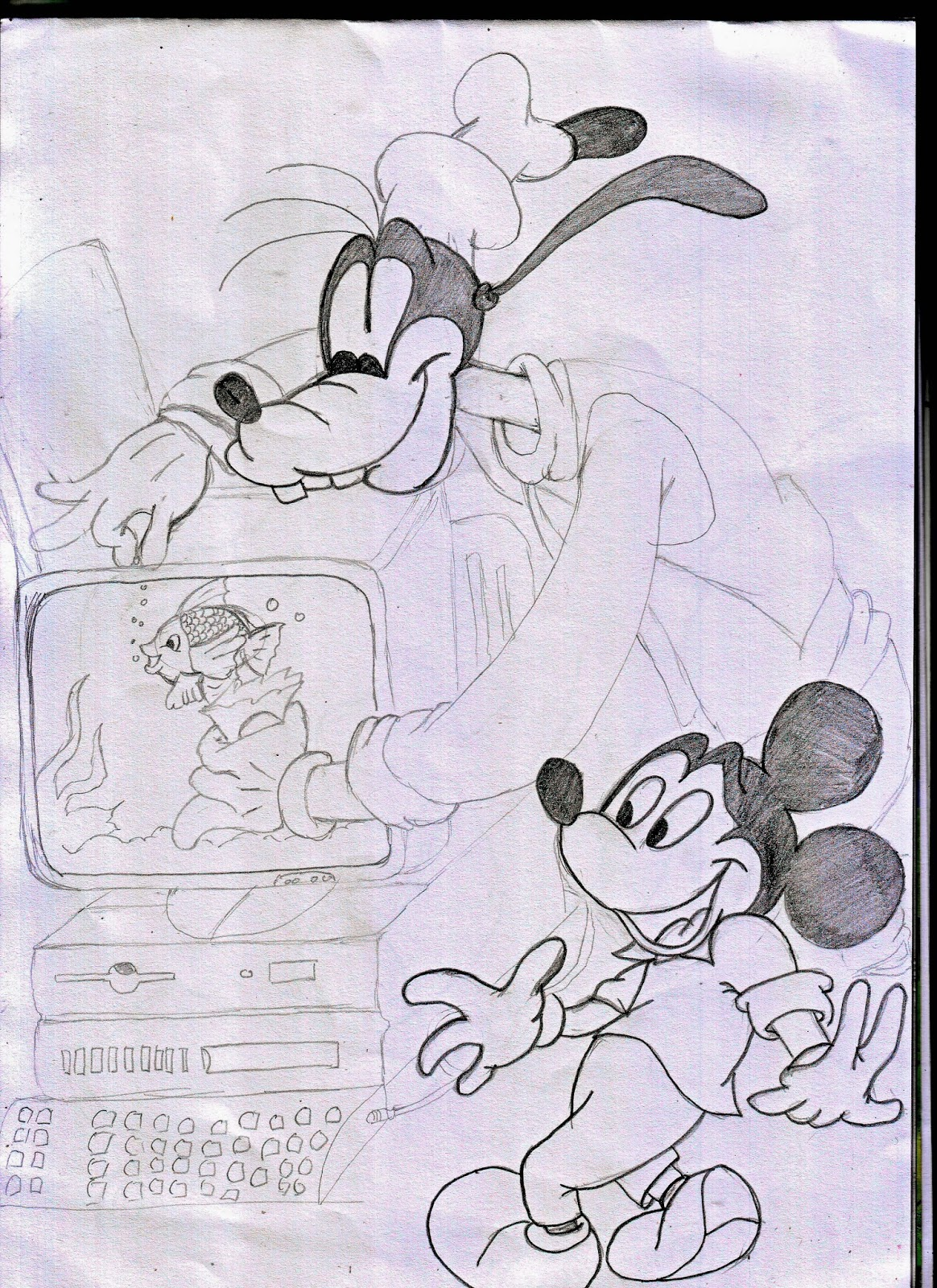 Gudang Gambar Kartun Mickey Minnie Mouse