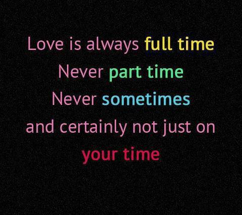 Facts And Quotes Love Is Not Time Pass Quote