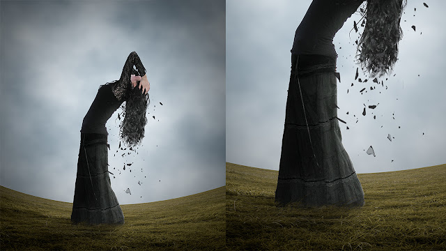 30 Shattered Hair - Photoshop Surreal Manipulation Tutorial Tutorial