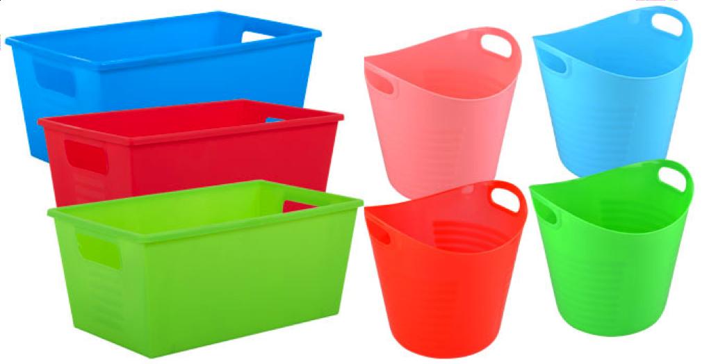 Dollar Tree plastic storage bins & Time 4 Kindergarten: Top Teacher Finds and the Dollar Store