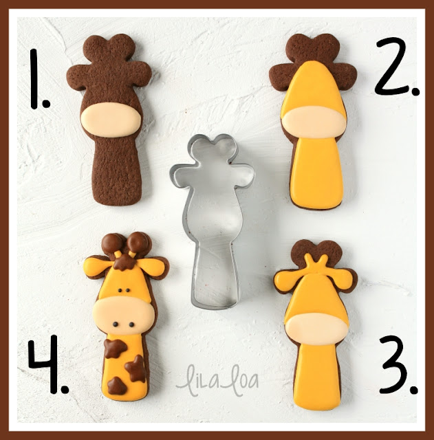 giraffe sugar cookie decorating tutorial
