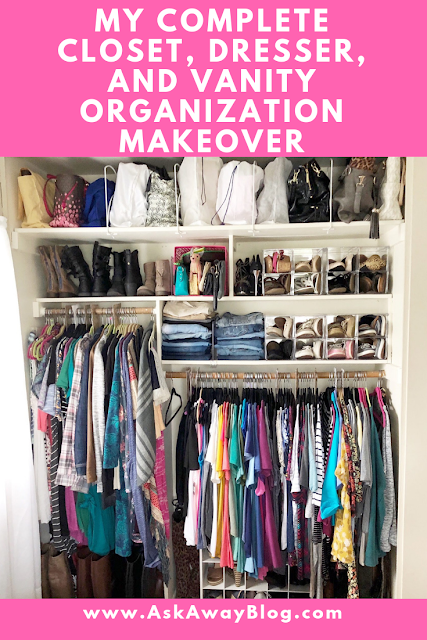 Complete Closet Organization using Container Store Products