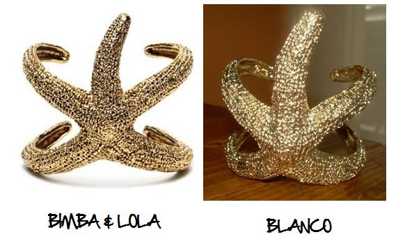 Clones 2011 pulsera estrella de mar Bimba & Lola Blanco