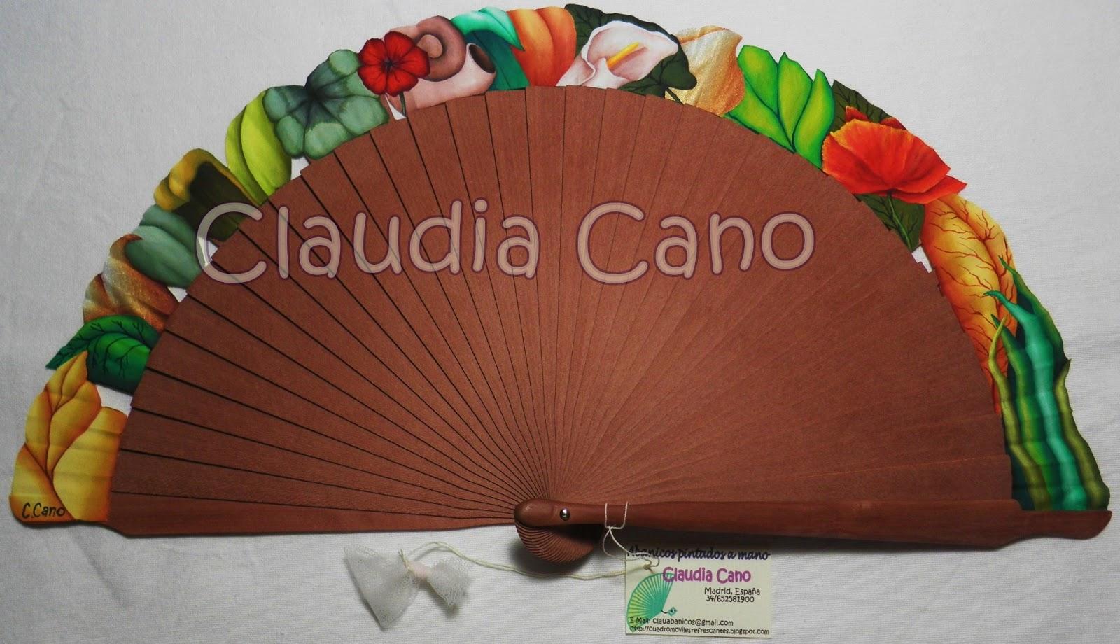 Abanicos pintados a mano por claudia cano jard n tres - Abanicos pintados a mano originales ...