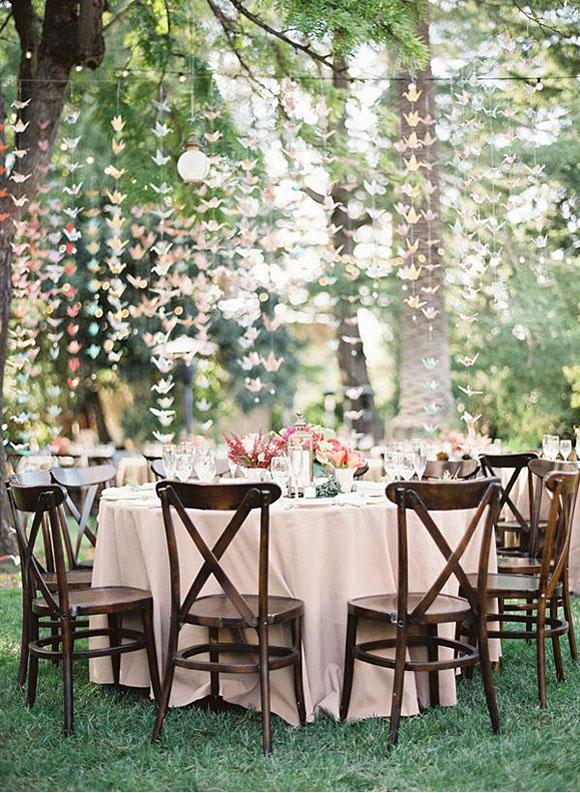 decorar mesas de invitados con origami