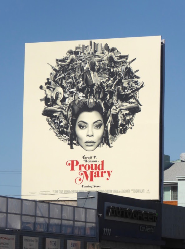 Proud Mary movie billboard