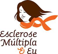 """Banner do blog esclerosemultiplaeeu.blogspot.com. Descrição da imagem: Vê-se um desenho representando uma mulher usando uma echarpe. Embaixo, está escrito: """"Esclerose Múltipla e Eu""""."""