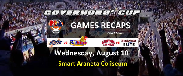 List of PBA Games Wednesday August 10, 2016 @ Smart Araneta Coliseum