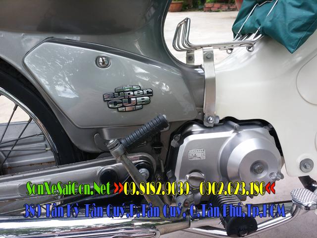 Sơn, dọn mới Honda Cub 82 màu xám bóng cực đẹp