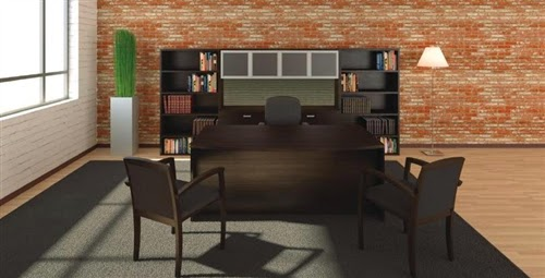 Cherryman Amber Series Executive Desk