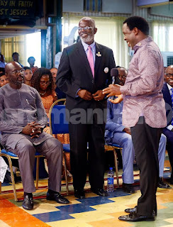George Weah visits (SCOAN) as TB Joshua speaks on Liberia election in Lagos [PHOTOS]