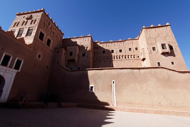 Patio interior de la Kasbah de Taourirt