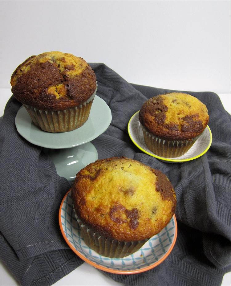 Fructose- und lactosefreie Marmor-Muffins