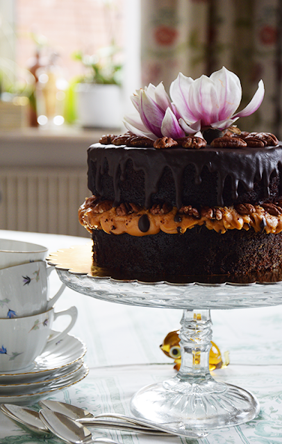 Gâteau Moka à la ganache de chocolat