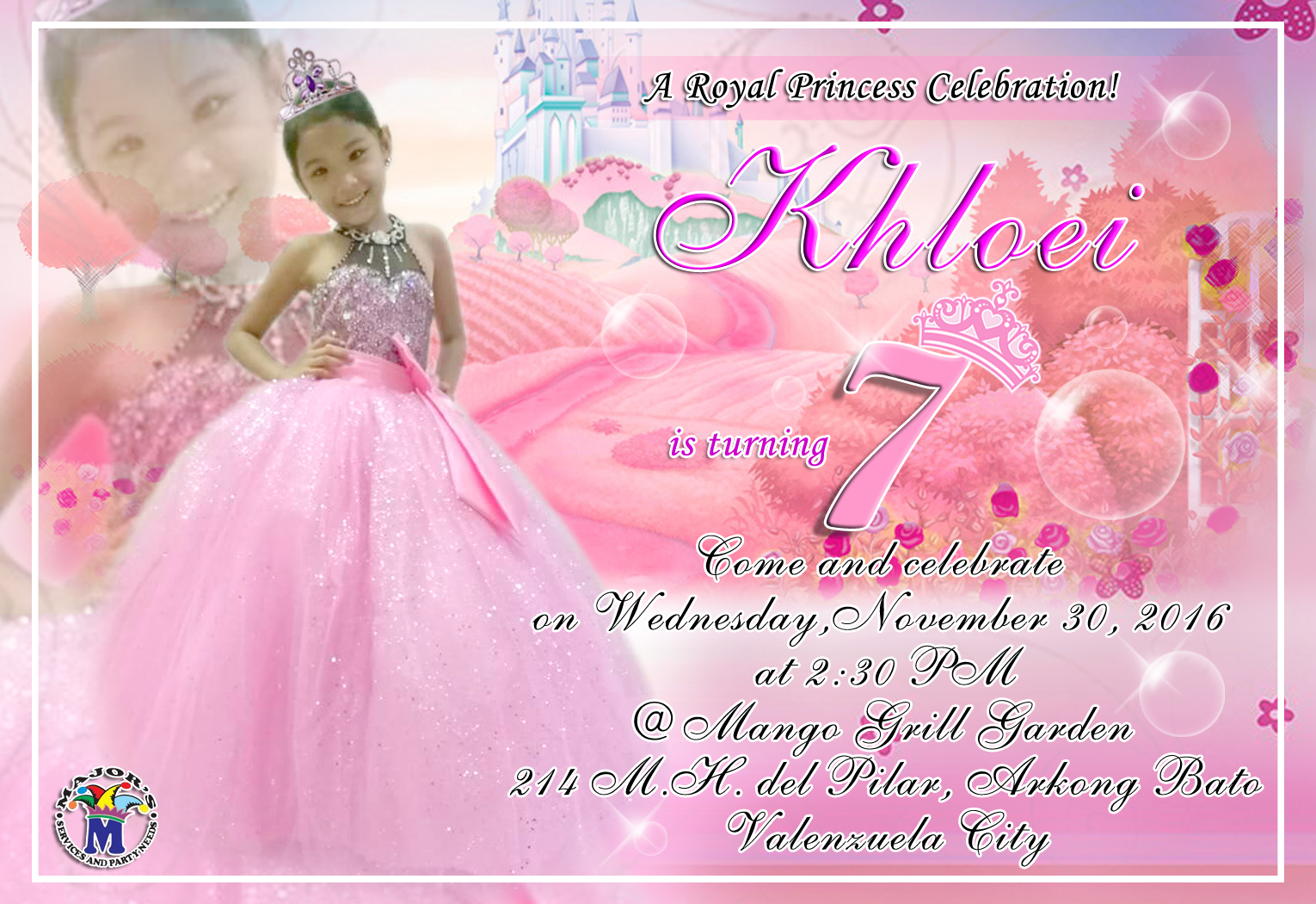 SAICHARD TECHNICAL AND GRAPHIC DESIGN PINK MOTIF BIRTHDAY