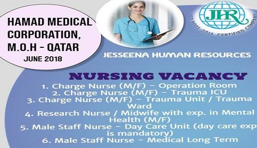 Nursing Vacancies for HMC, M O H - Qatar Hurry Up !! Vacancy