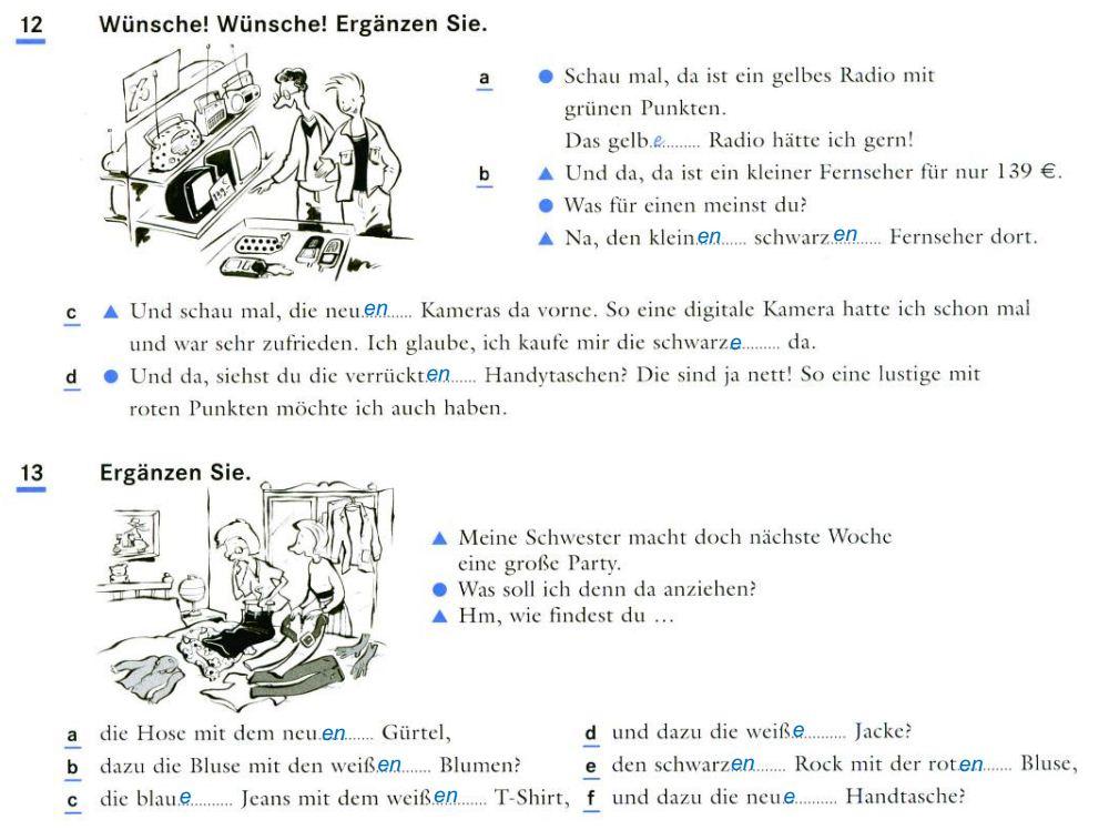 DEUTSCH IV - PORTFOLIO: Arbeitsblatt 1 - 3.4 Was passt?