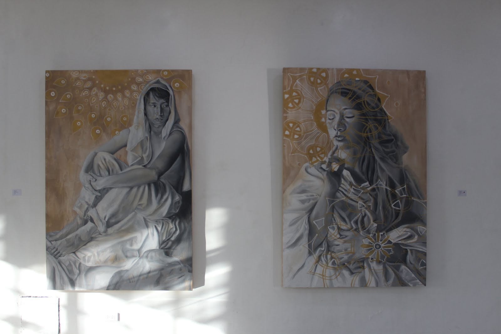 Kat Malazarte's Peaceful Defiance Art, Kat Malazarte, Iloilo, Culture, Peaceful Defiance, Portraits, Culture, Creative, Creativity, Casa Real, Exhibit, Paintings, Empowerment,