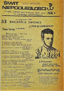 Świt Niepodległości - pismo grupy afiliowanej przy KPN 1988