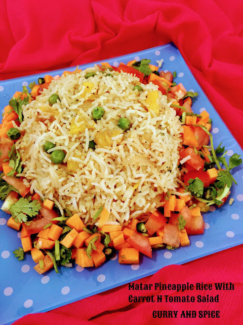MATAR PINEAPPLE RICE WITH CARROT N TOMATO SALAD